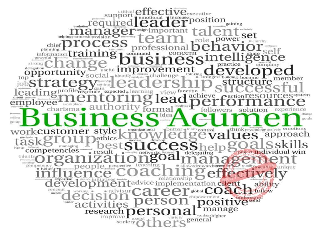 Acute business acumen