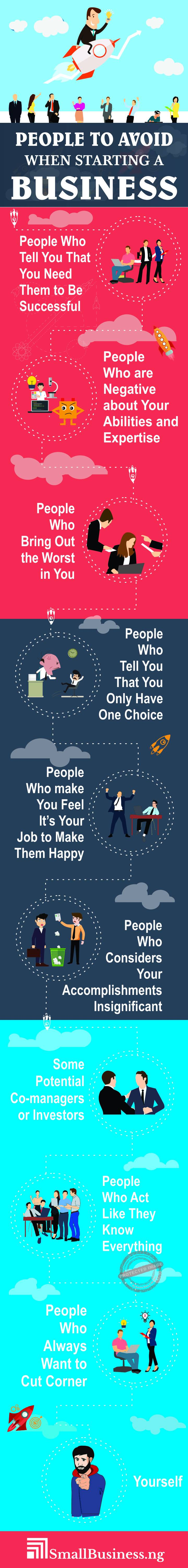 People To Avoid When Starting A Business infographic