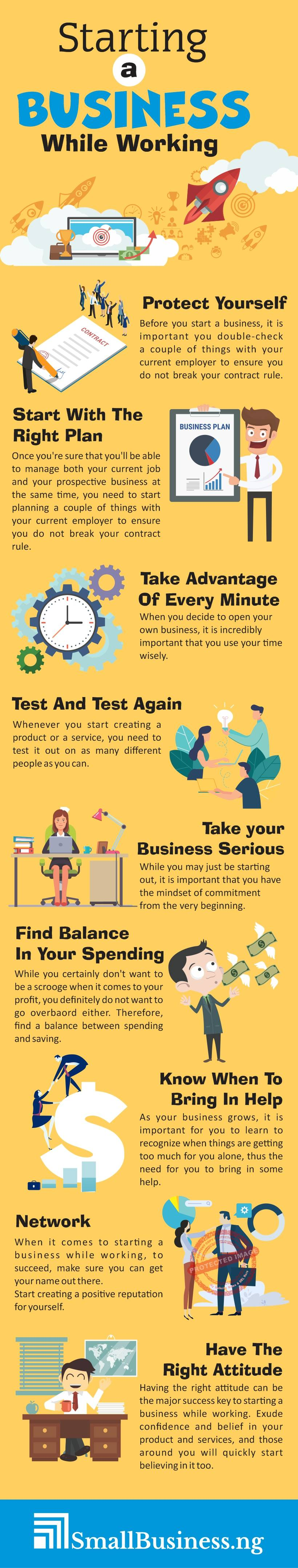 Starting A Business While Working infographic