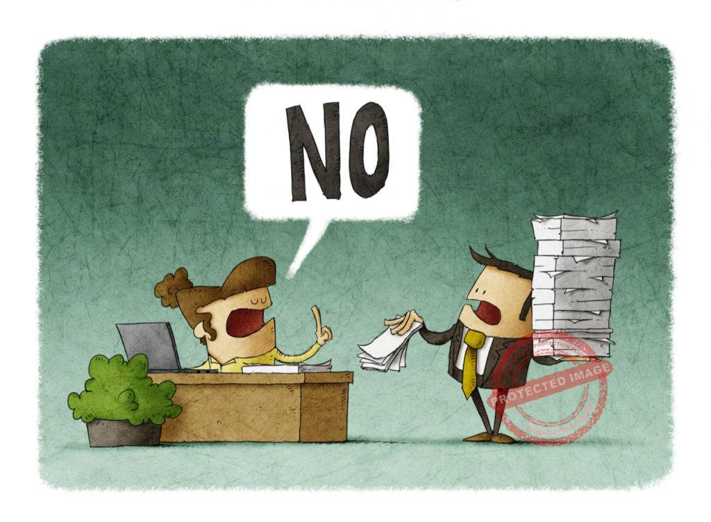 professional ways to say no in business