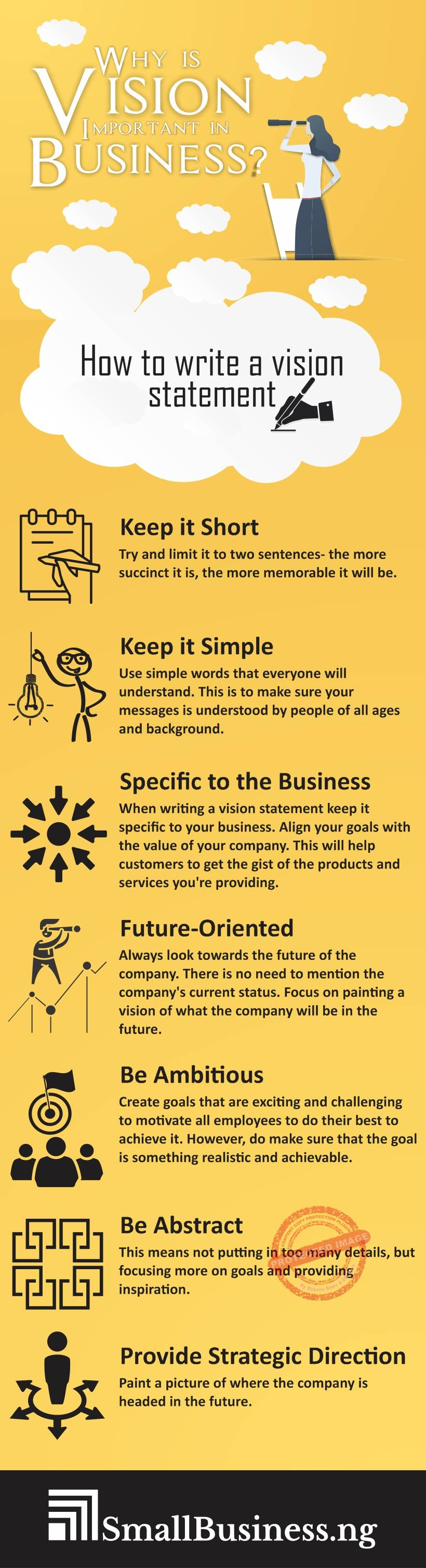 Why is vision important in business infographic