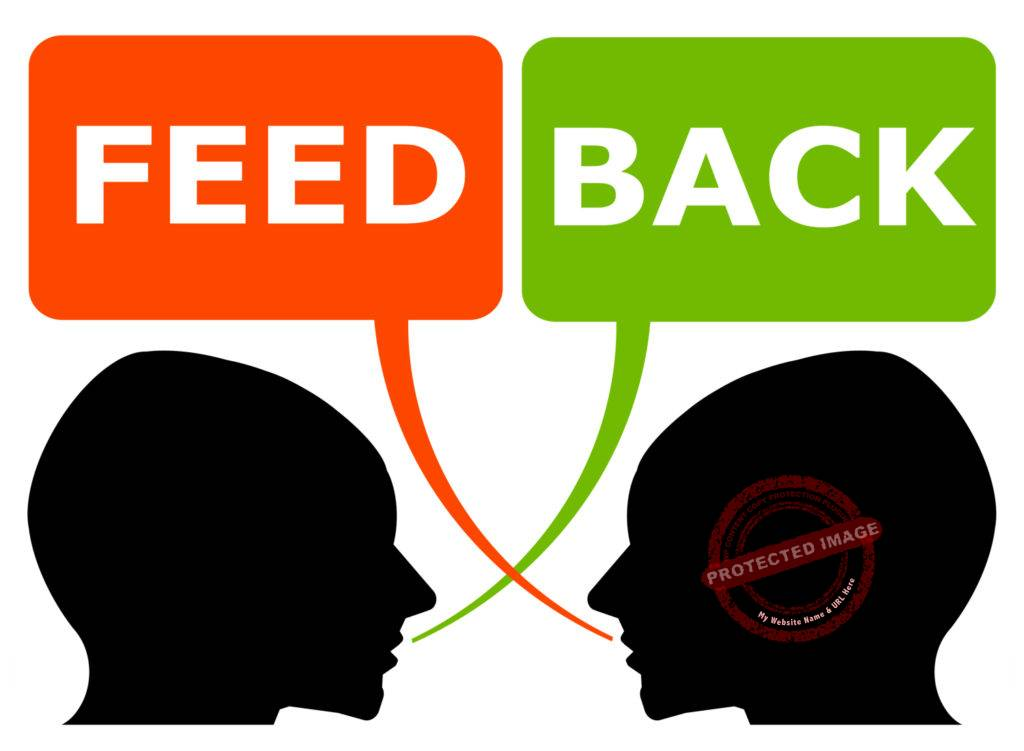 On receiving feedback one should ideally