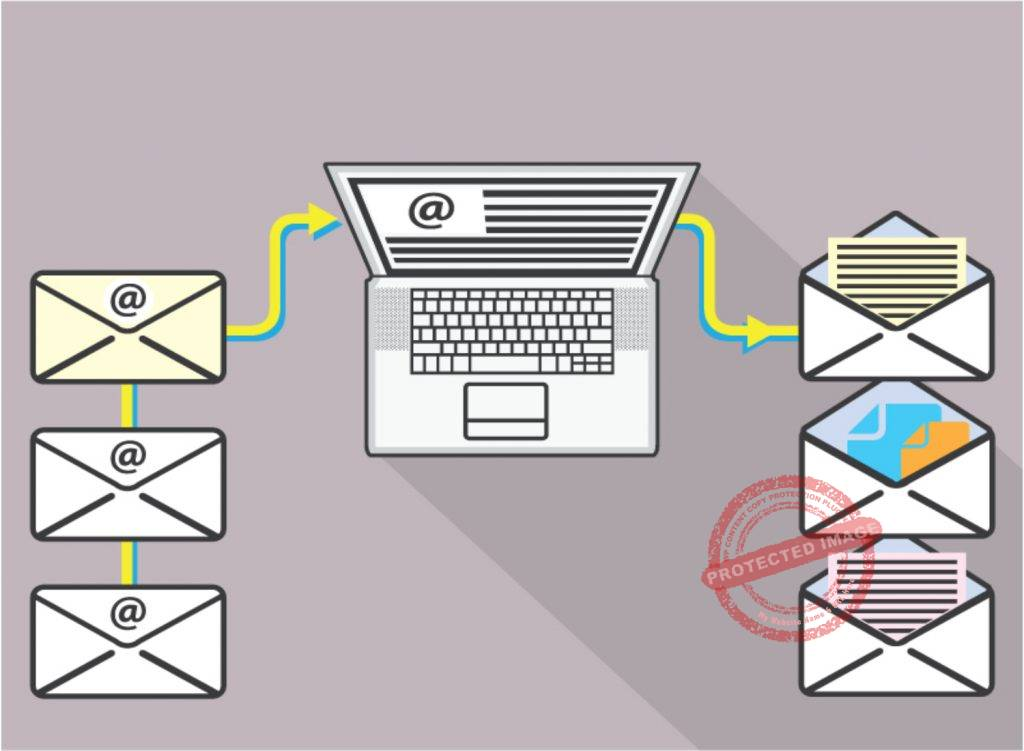 How to organize work email