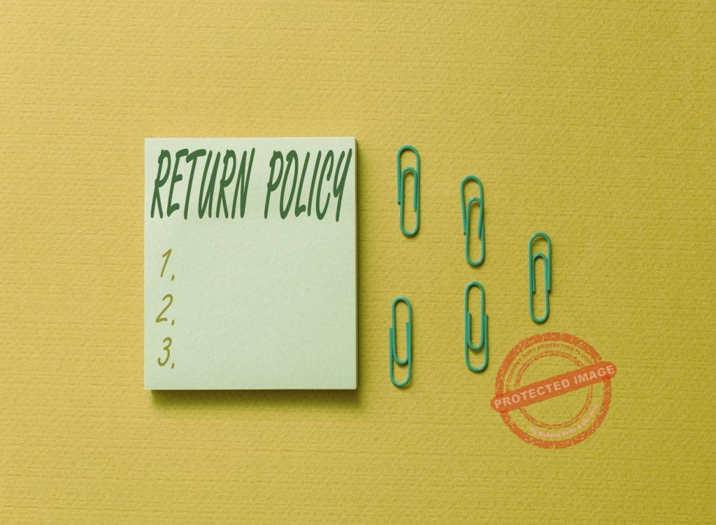 Guidelines on customer returns and refunds for small business