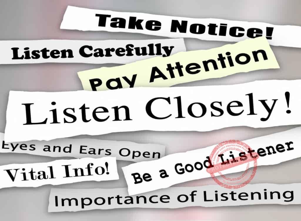 Developing listening skills